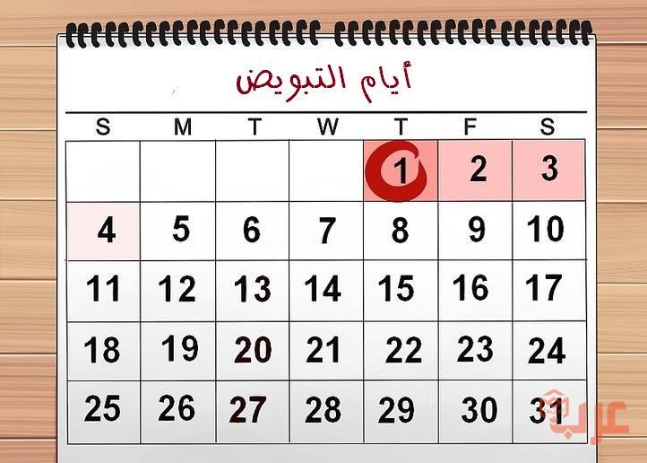 حساب ايام التبويض للحمل بولد عرب بوكس