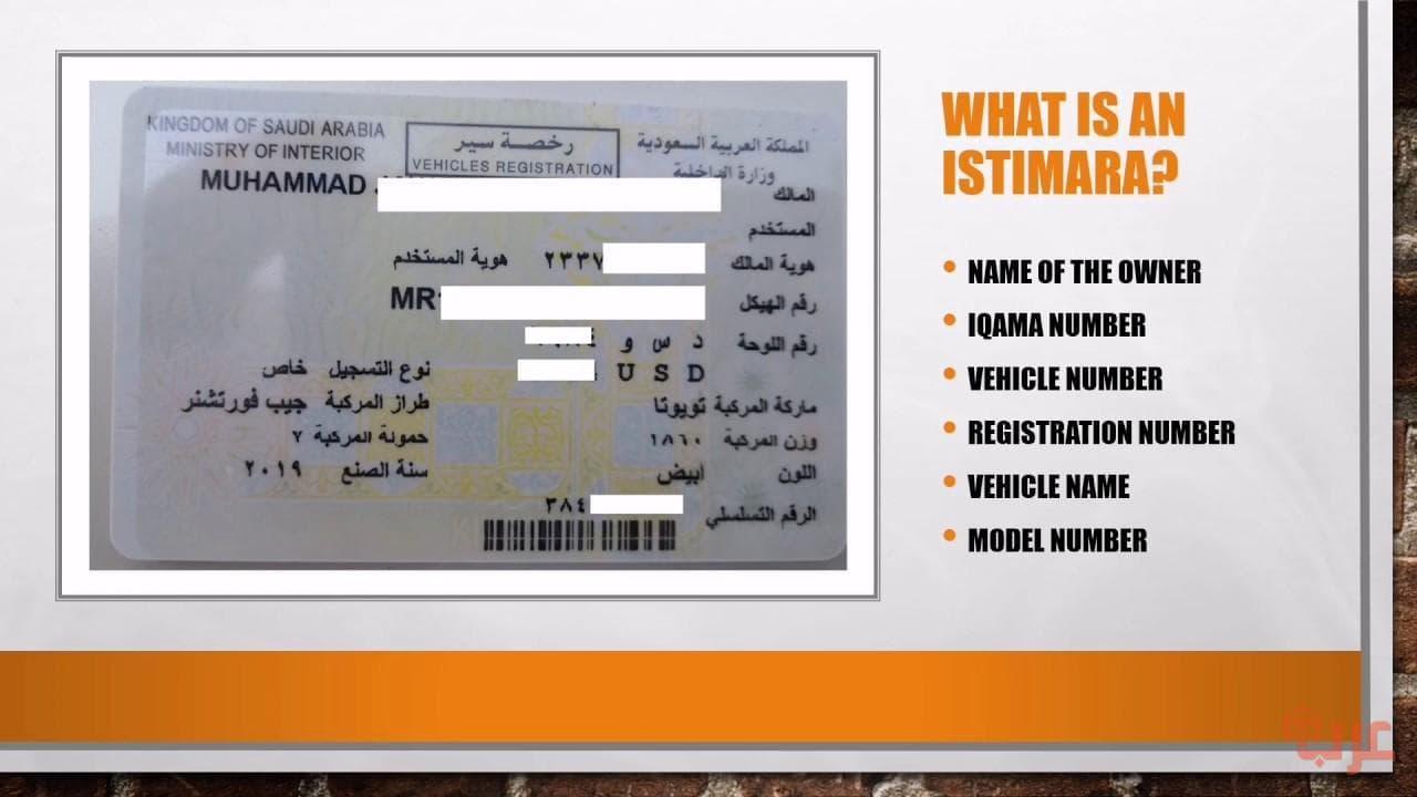 لوحة سيارة سعودية فارغة