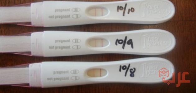 ظهور خط خفيف جدا في اختبار الحمل قبل موعد الدورة عرب بوكس