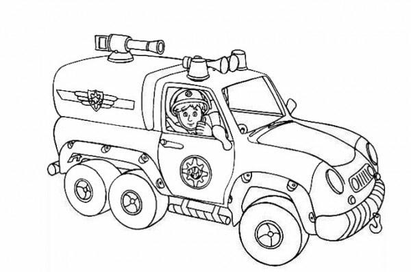 رسومات عن الدفاع المدني للتلوين جاهزة للطباعة عرب بوكس
